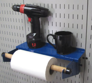 Wall Control Pegboard Paper Towel Holder And Dowel Rod Pegboard Shelf Assembly
