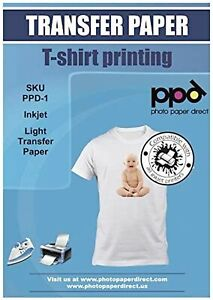 Ppd Inkjet Premium Iron on White And Light Color T Shirt Transfers Paper Ltr