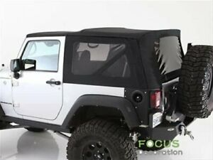 Soft Top Replacement Tinted Windows Black Denim For Jeep Wrangler Tj 1997 2006