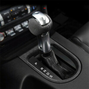 Real Alcantara Fabric Leather Gear Shift Knob Cover For Ford Mustang 2018 2019