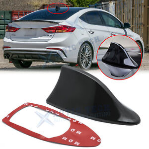 Black Auto Shark Fin Roof Antenna Radio Fm Am Aerial Accessories For Toyota