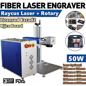 Calca 50w Split Fiber Laser Marking Engraver Engraving Machine Rotary Axis