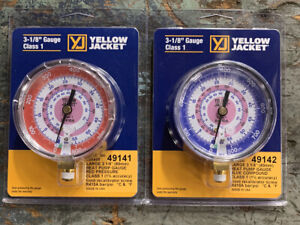 Yellow Jacket 3 1 2 Replacement Refrigerant Gauges R410a 49141 49142