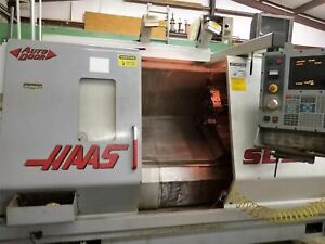 Haas Sl 30t Cnc Lathe 2002 Tail Stock Probe High Pressure Coolant