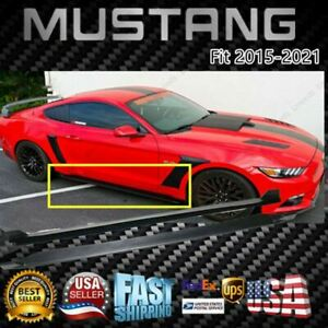 For 2015 2021 Ford Mustang Pair Side Skirts Under Board Extension Panel Body Kit