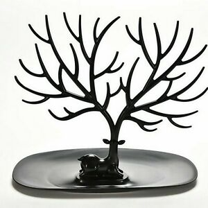 Jewelry Deer Tree Stand Display Organizer Necklace Ring Earring Holder Rack Us