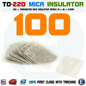 100pcs To 220 Insulation Pad Sheet Mica Insulator Pads thermal Insulation hole