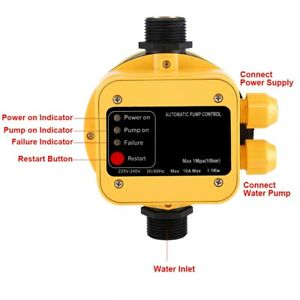 Automatic Water Pump Pressure Switch Electric Controller With Gauge Home Ac Home