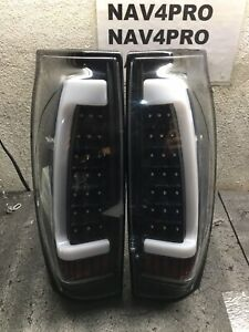 2002 2006 Chevy Avalanche 1500 2500 Led Tube Tail Lights Black Pair T269