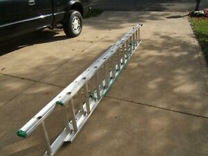 24 Ft Werner Aluminum Extension Ladder Slightly Used Condition