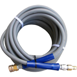 3 8 Ft X 50 Ft Gray Pressure Washer Hose Non marking With Quick Disconnects