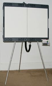 Attivo By Ghent Lg Portable Dry Erase White Board Easel On Tripod 35 5 X 23 5