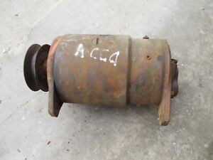 Allis Chalmers Ca Tractor Working 12v Generator W Drive Pulley