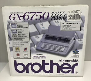 Brother Gx 6750 Electronic Typewriter Rare New In Box