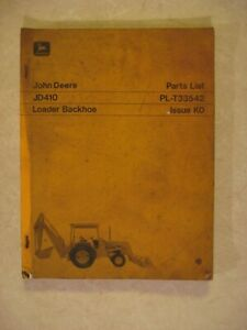 Original Parts List Manual John Deere Jd410 Loader Backhoe 186 Pages