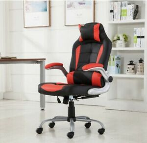 Racing Gaming Chair Adjustable Swivel Recliner Computer Office Chair Red