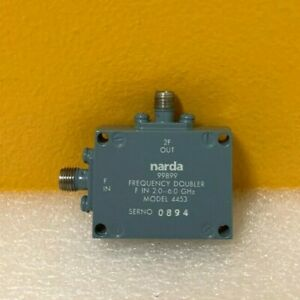 Narda 4453 2 0 To 6 0 Ghz Sma f f Coaxial Frequency Doubler Tested