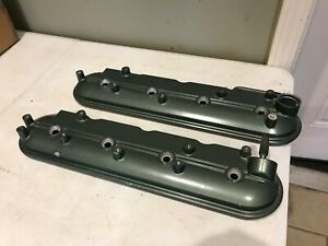 Ls Crate Motor Take Off Valve Covers Bare Painted Lsx Swap Green Hot Rod Gm Oem