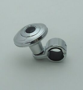 Chrome Steering Wheel Auxliary Spinner Knob handle Boost Aid For Car truck A1