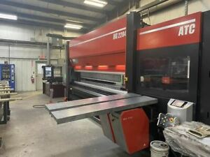 247 Ton X 14 Amada Hg 2204 Atc Cnc Press Brake 2016 8 Axis Backgauge 100k In