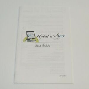 Edge Systems Hydrafacial Md Tower User Guide Operator Manual Handpiece Operation