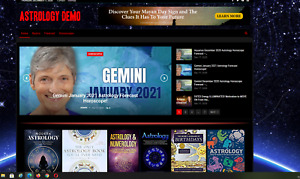 Astrology News Guides Affiliate Product Website automated premium Designed