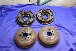 Triumph Tr7 5 Speed Rear Brake Drums And Backing Plate Assemblies