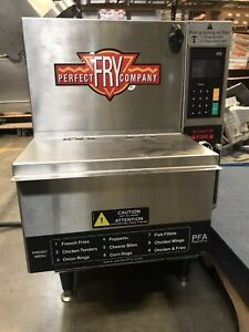 Perfect Fry Pfa570 Countertop Electric Fryer Self Hooded With Built In Ansul