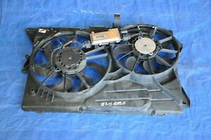 2012 Ford Explorer Limited 3 5l Awd 2 Radiator Cooling Fan Motor W Housing Oem