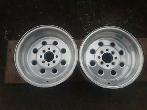 2 Weld Racing Draglite Wheels 15x8 4 Lug 4 1 2 4 1 4 Foxbody Mustang