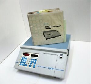Hach Dr 3000 Spectrophotometer 19600 00 With Manual