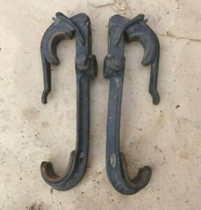 1909 1927 Top Bow Saddles Clamps Original Pair 78 Model T Ford Dodge