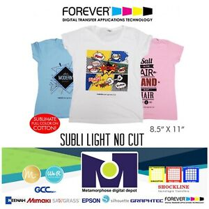 Forever Subli Light not Cut 8 5 x11 15 Sheets Free Shipping