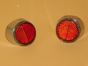 1959 59 Chrysler Imperial Tail Light Reflector Reflectors Pair