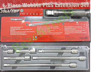 New Snap On 3 8 Drive 6 Piece Wobble Plus Ratchet Extension Set 206afxwp Usa