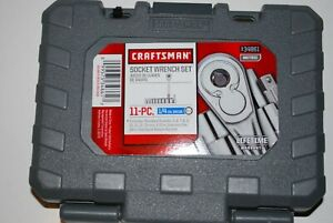 New Craftsman 11 pc 6 pt 1 4 Drive Metric Socket Wrench Set 34861
