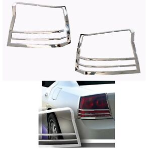 New Chrome Taillight Lamp Bezel Cover Tail Light Trim 2006 2010 Dodge Charger
