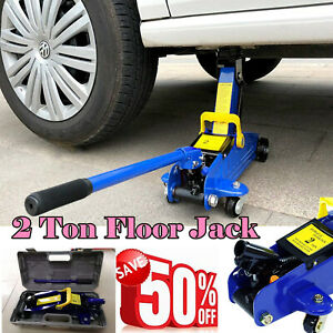 3 Ton Car Floor Jack Steel Low Profile Quick Pump Blue Hydraulic Car Lift Us