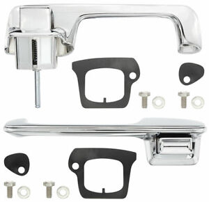 New 1969 1970 Cadillac Convertible Coupe Chrome Exterior Door Handle Set pair