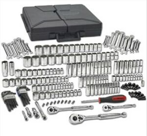 216 Pc Sae Metric 6 12 Pt Mechanics Tool Set Multi Drive Gearwrench 80933