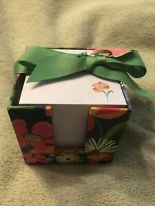 Nwt Vera Bradley Jazzy Blooms Take Note Cube