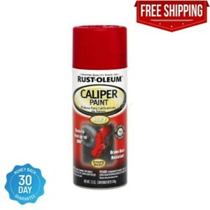 Rust oleum Red Automotive High Temp 12oz Custom Brake Caliper Paint Spray 900f