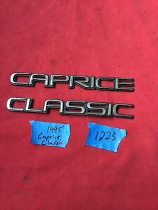 Caprice Classic Emblems Chevrolet Chevy 1991 1996 Rear Trunk 1222