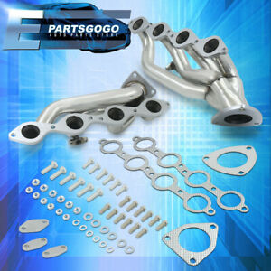 For 99 05 Chevy Silverado Sierra 4 8l 5 3l Steel Exhaust Racing Header Manifolds