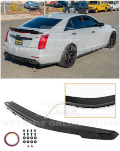 Carbon Package Glossy Black Rear Wing Wickerbill Spoiler For 14 19 Cadillac Cts