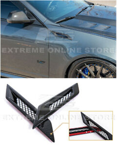 For 09 15 Cadillac Cts V Gm Factory Carbon Fiber Side Bumper Fender Vents Pair