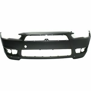 Front Bumper Bumper Cover For 2008 2015 Mitsubishi Lancer With W Air Dam Holes