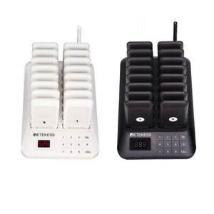 Retekess Restaurant Wireless Paging System 16 coaster Pagers Food Truck Clinic