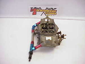 Holley Hp 750 Cfm 4 Barrel Racing Gas Carburetor With Stainless Braided Fuel Log