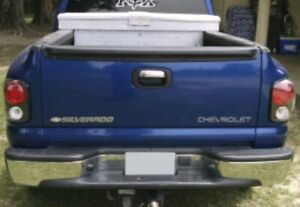 Used Chrome Oem Rear Bumper Face Bar Gmc Chevy 99 To 07 Stepside Model 19121286